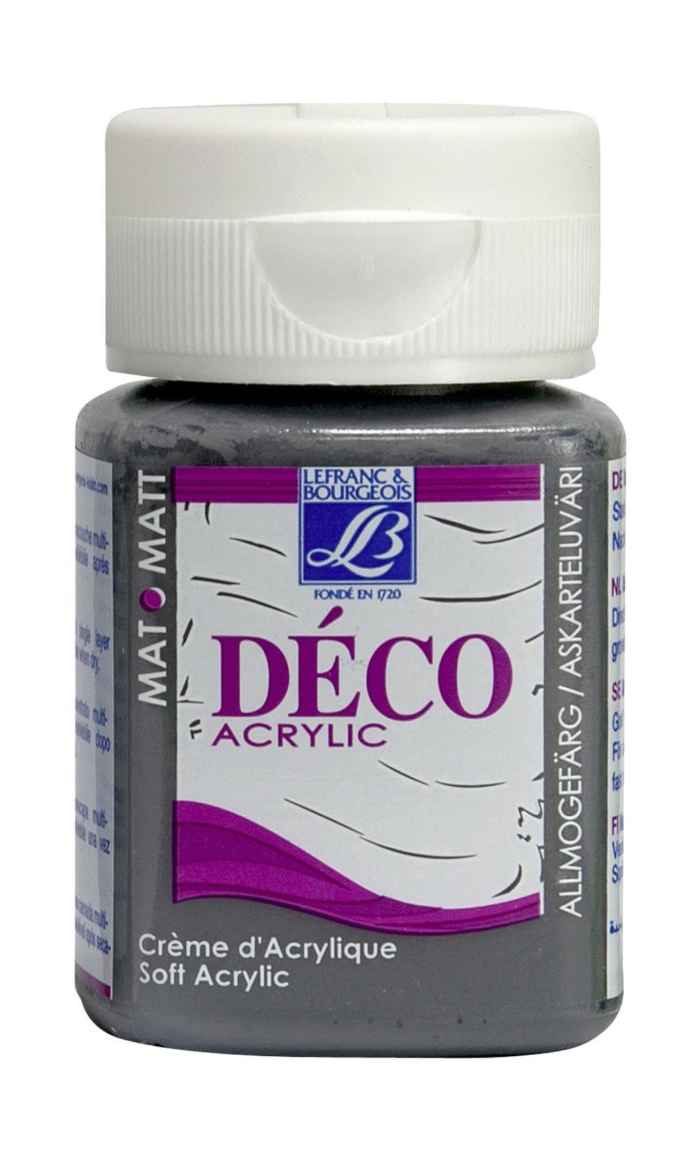 Hobbyfärg L&B Deco Matt Akryl 50ml Flannel grey warm 876 (4F) Utgår