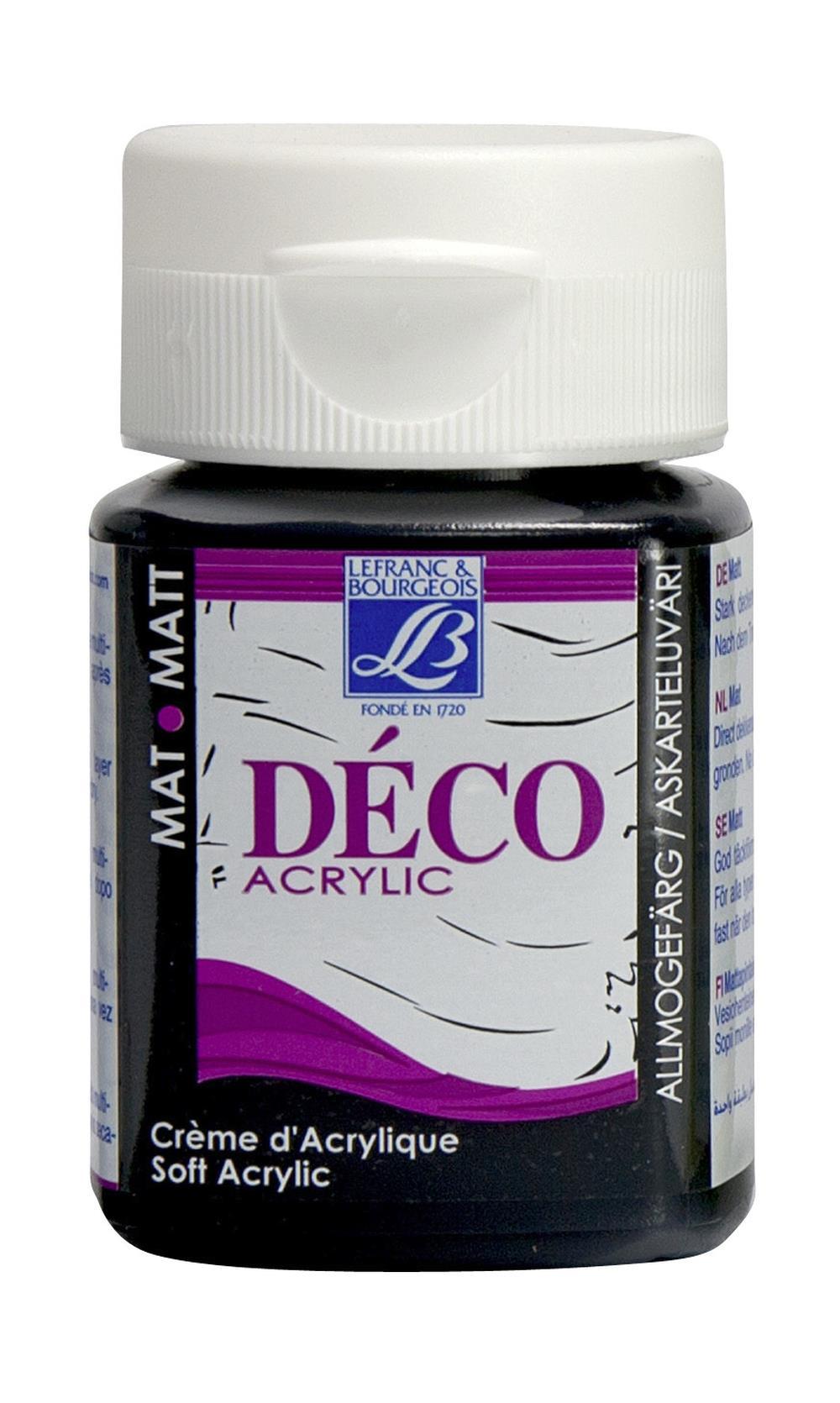 Hobbyfärg L&B Deco Matt Akryl 50ml Night black warm 270 (4F) Utgår