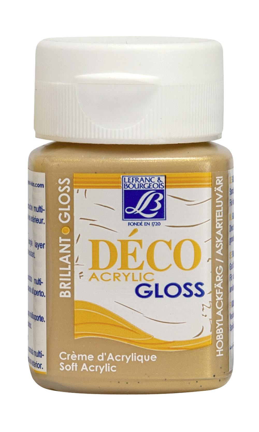 Hobbyfärg L&B Deco Gloss Akryl 50ml Gold 700 (4F) Utgår
