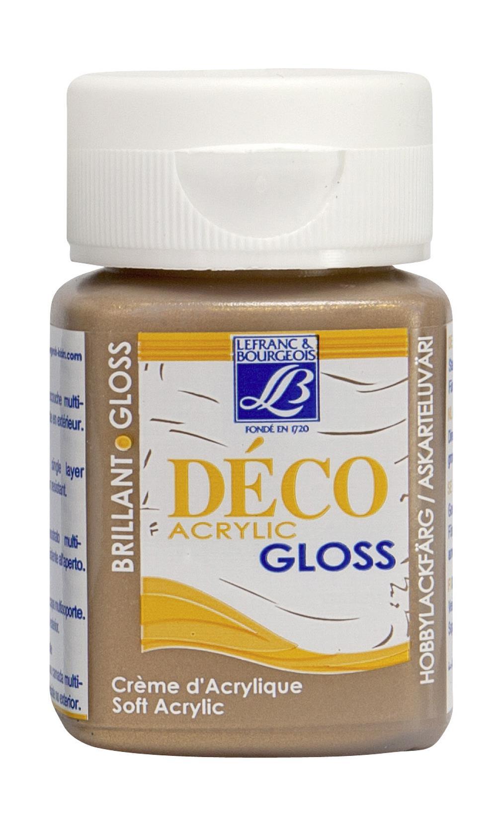 Hobbyfärg L&B Deco Gloss Akryl 50ml Old gold 704 (4F) Utgår