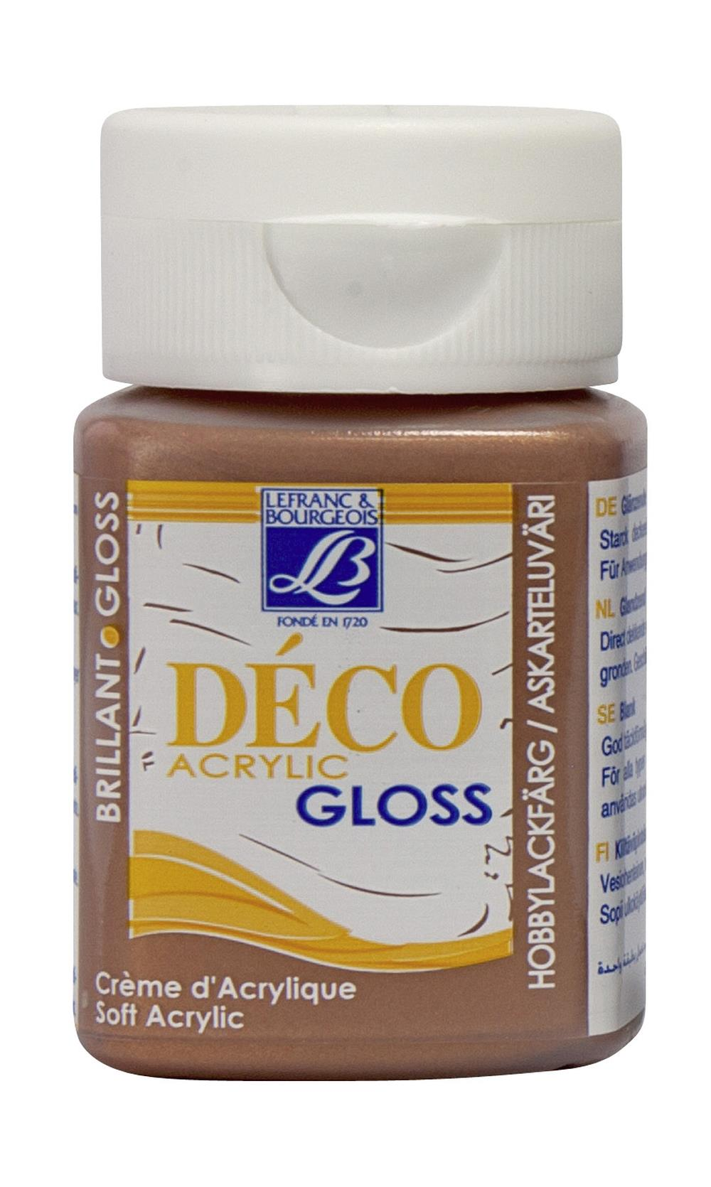 Hobbyfärg L&B Deco Gloss Akryl 50ml Copper 707 (4F) Utgår