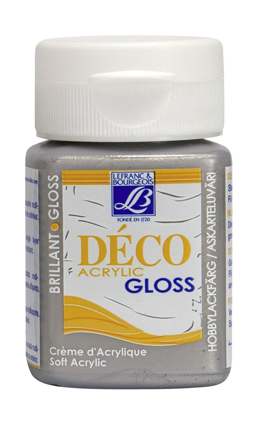 Hobbyfärg L&B Deco Gloss Akryl 50ml Silver 710 (4F) Utgår