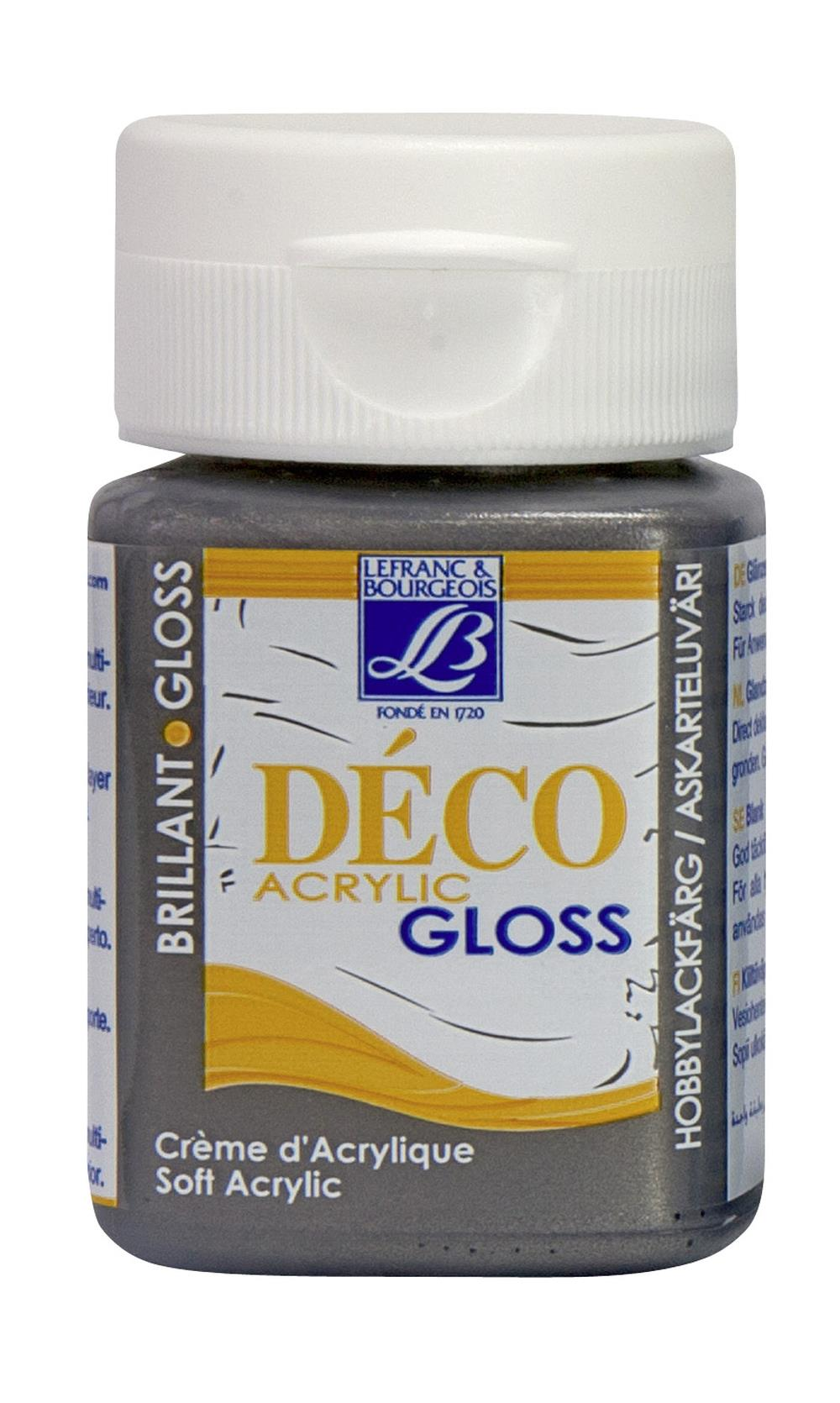 Hobbyfärg L&B Deco Gloss Akryl 50ml Pewter 711 (4F) Utgår