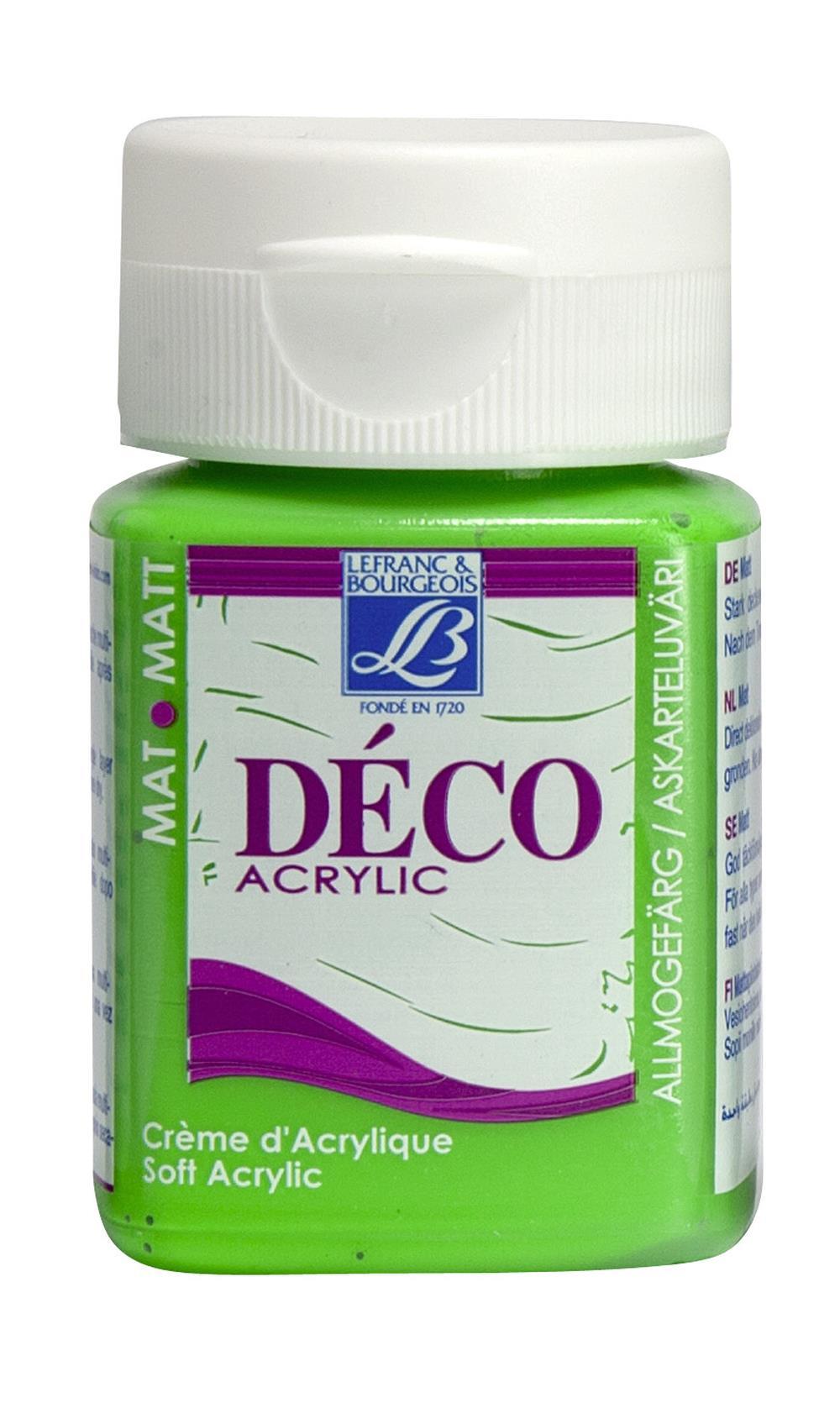 Hobbyfärg L&B Deco Matt Akryl 50ml Fluo green warm 565 (4F) Utgår