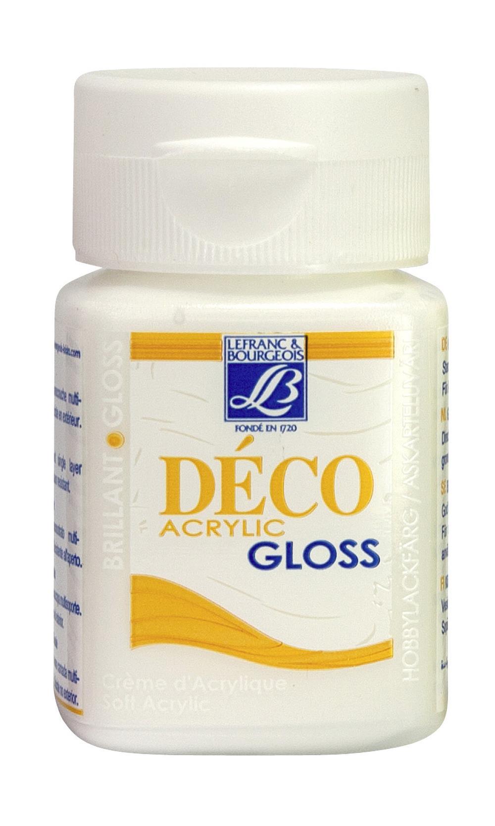 Hobbyfärg L&B Deco Gloss Akryl 50ml  White 001 (4F) Utgår