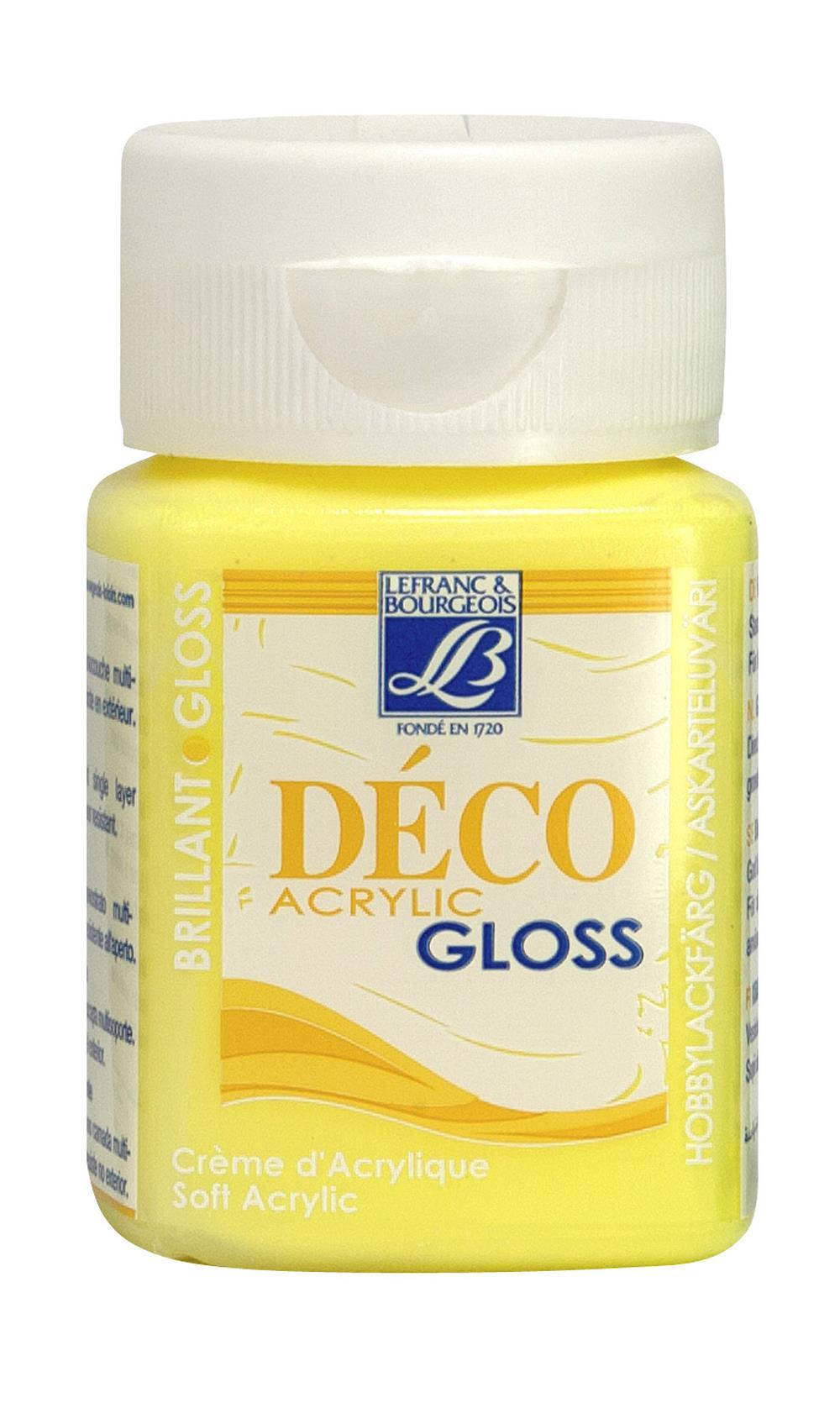 Hobbyfärg L&B Deco Gloss Akryl 50ml  Mimosa 189 (4F) Utgår