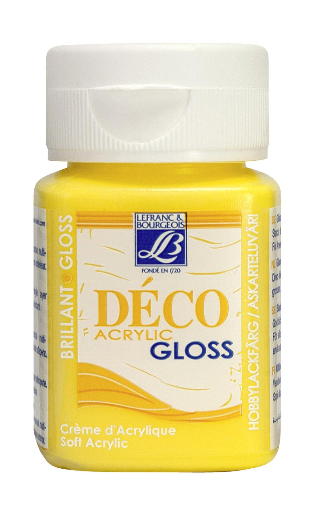 Hobbyfärg L&B Deco Gloss Akryl 50ml  Sun 186 (4F) Utgår