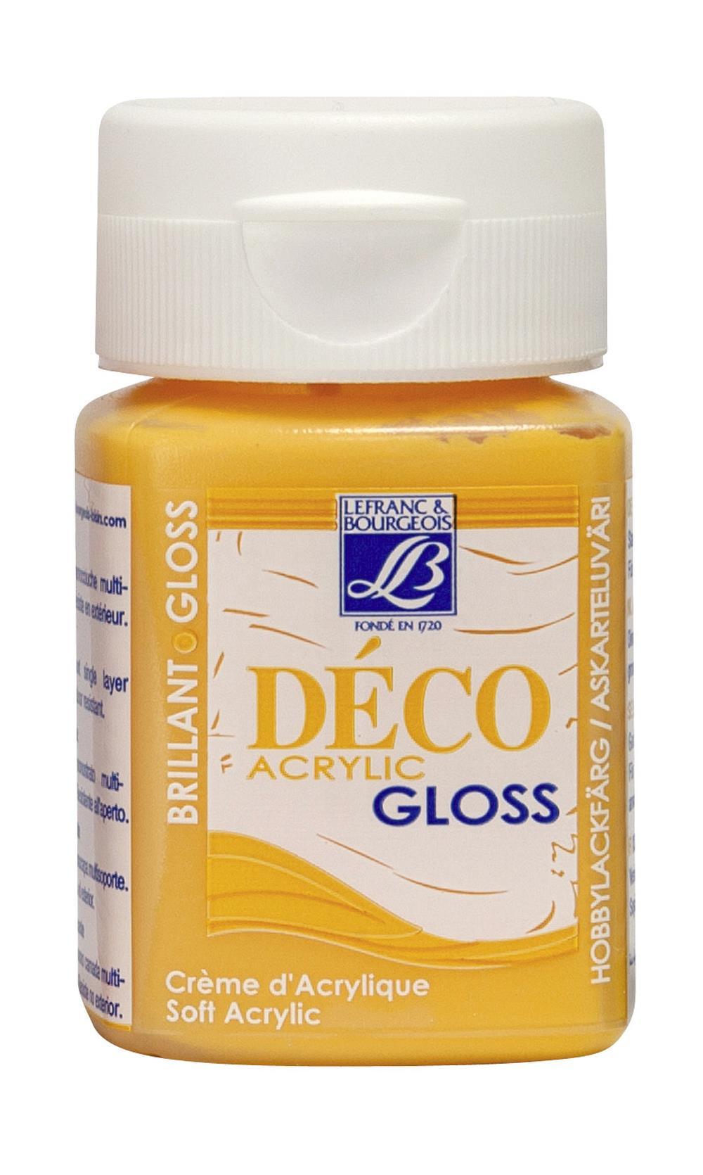 Hobbyfärg L&B Deco Gloss Akryl 50ml  Papaya 244 (4F) Utgår