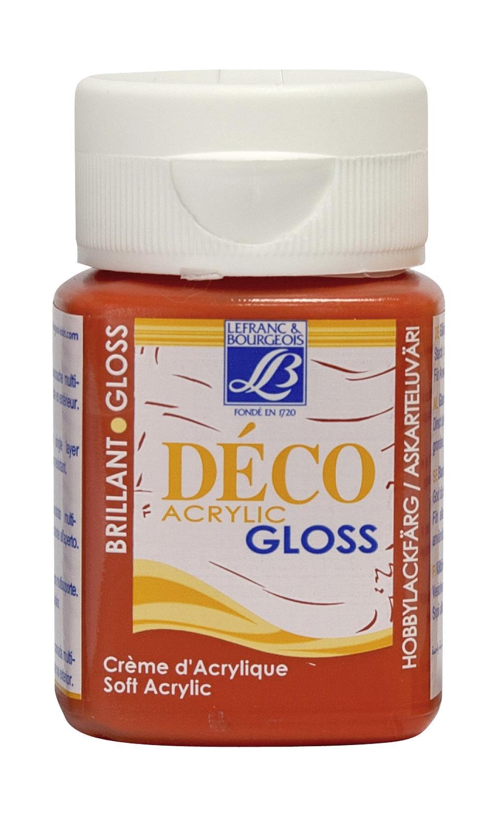 Hobbyfärg L&B Deco Gloss Akryl 50ml  Geranium 229 (4F) Utgår