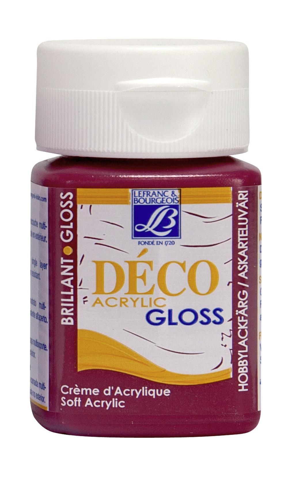 Hobbyfärg L&B Deco Gloss Akryl 50ml  Carmine 327 (4F) Utgår