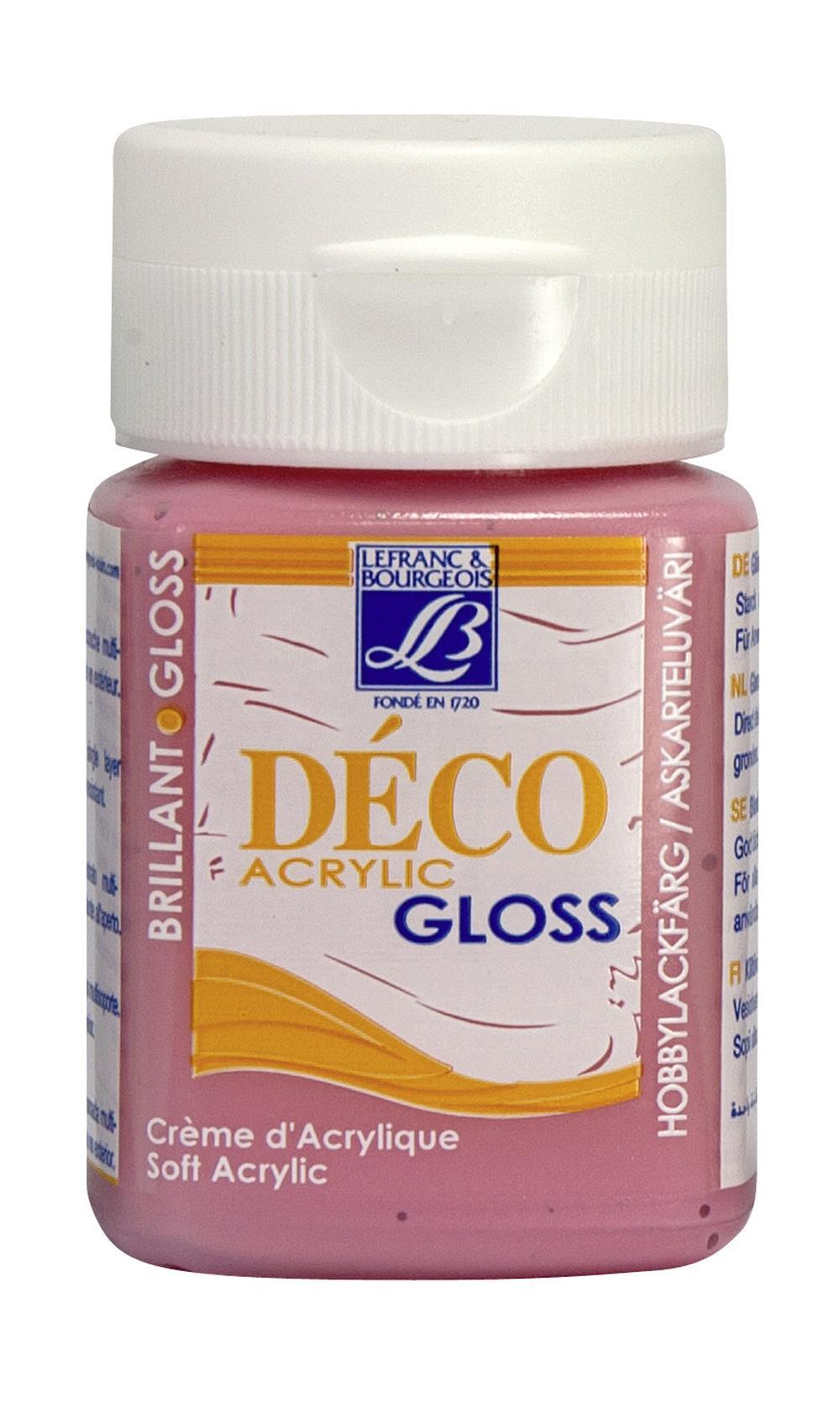 Hobbyfärg L&B Deco Gloss Akryl 50ml  Pink 351 (4F) utgått