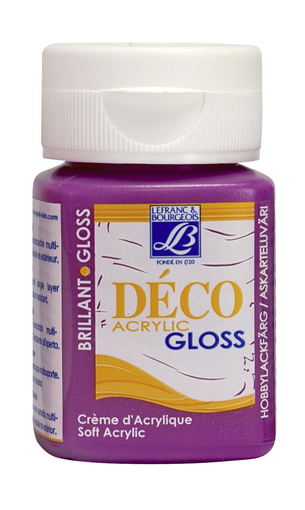 Hobbyfärg L&B Deco Gloss Akryl 50ml  Fuchsia 443 (4F) Utgår