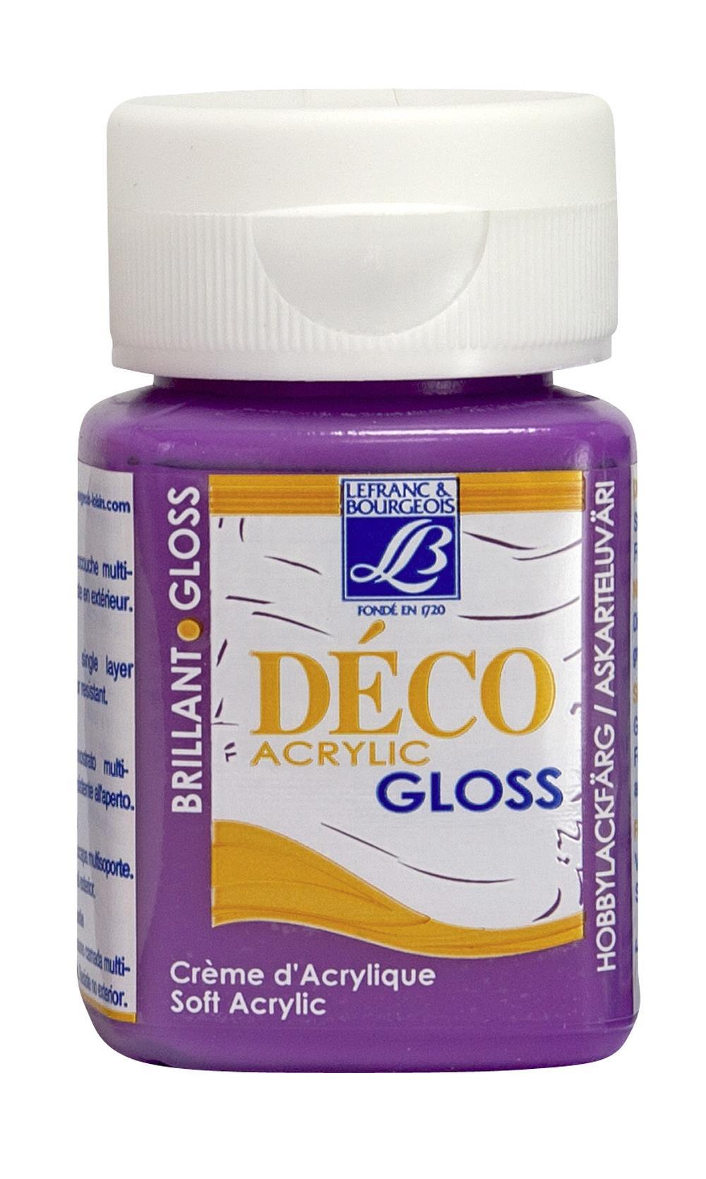 Hobbyfärg L&B Deco Gloss Akryl 50ml  Wine 314 (4F) Utgår