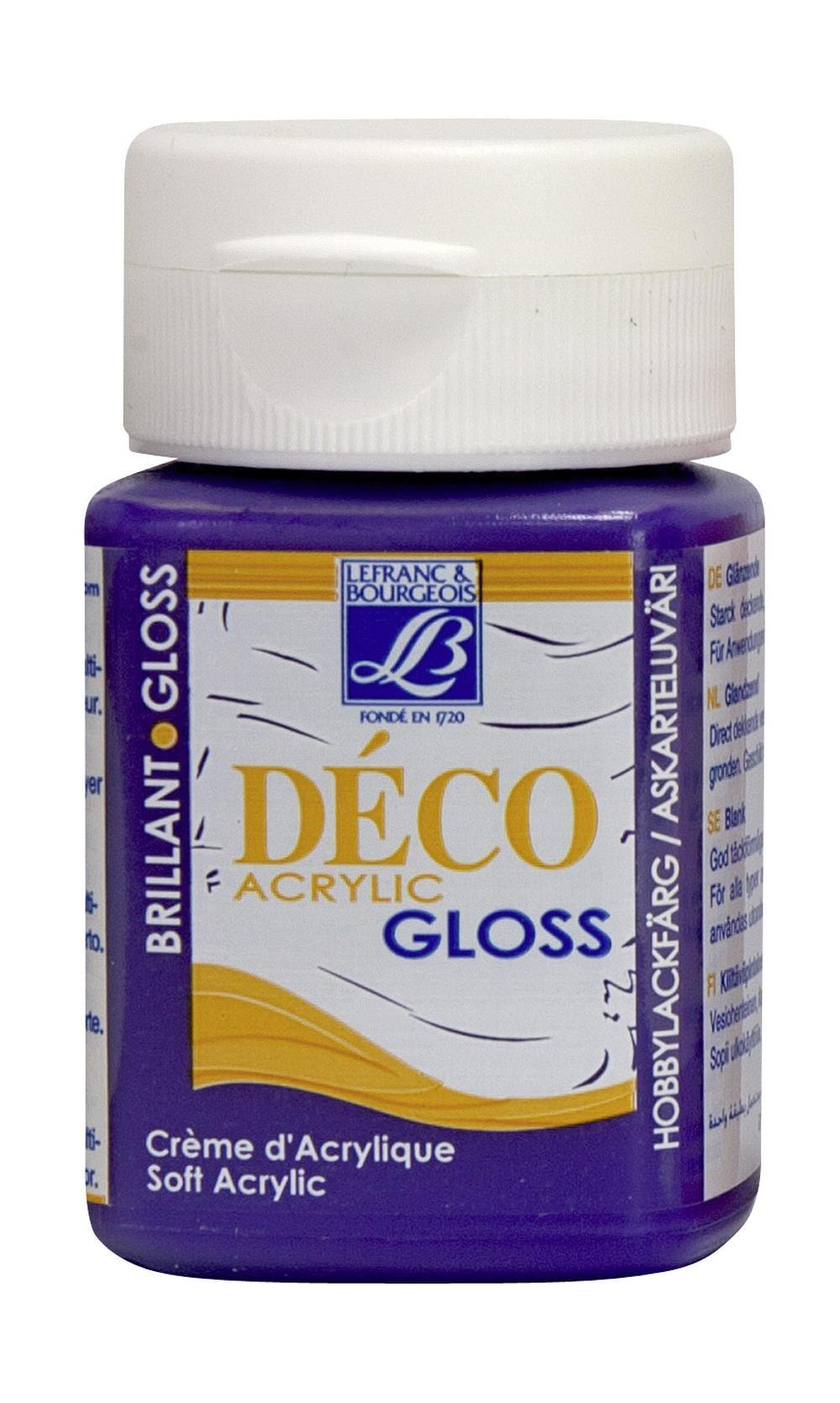 Hobbyfärg L&B Deco Gloss Akryl 50ml  Violet cream 601 (4F) Utgår