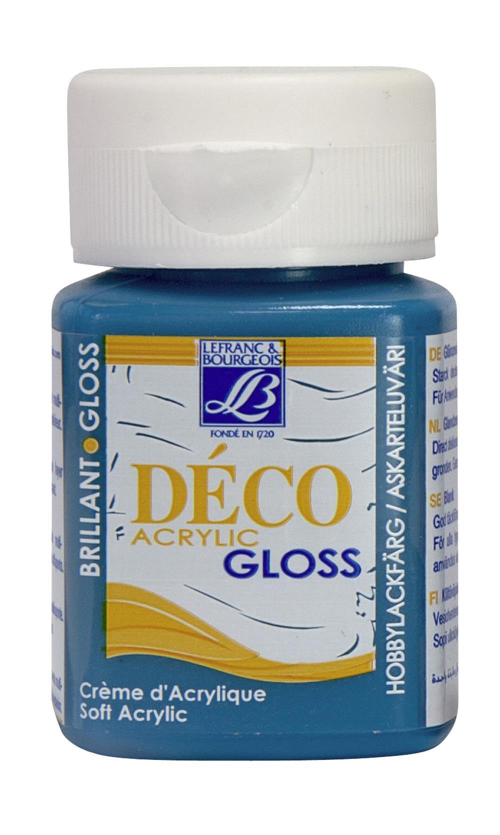 Hobbyfärg L&B Deco Gloss Akryl 50ml  Turquoise 058 (4F) utgått