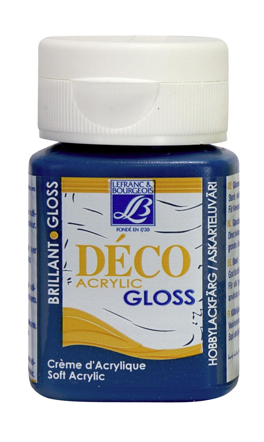 Hobbyfärg L&B Deco Gloss Akryl 50ml  Sapphire 048 (4F) Utgår