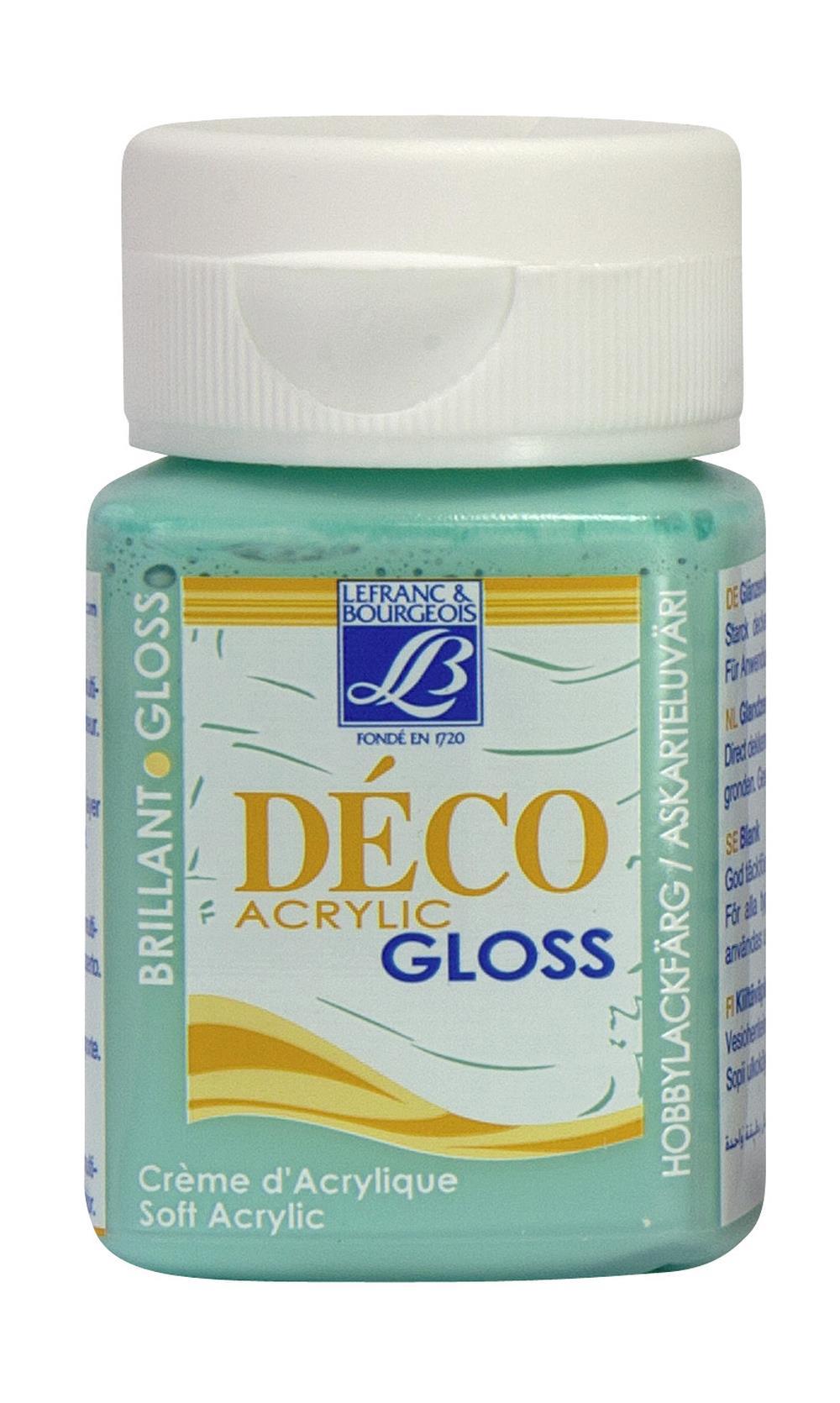 Hobbyfärg L&B Deco Gloss Akryl 50ml  Tahiti green 489 (4F) Utgår