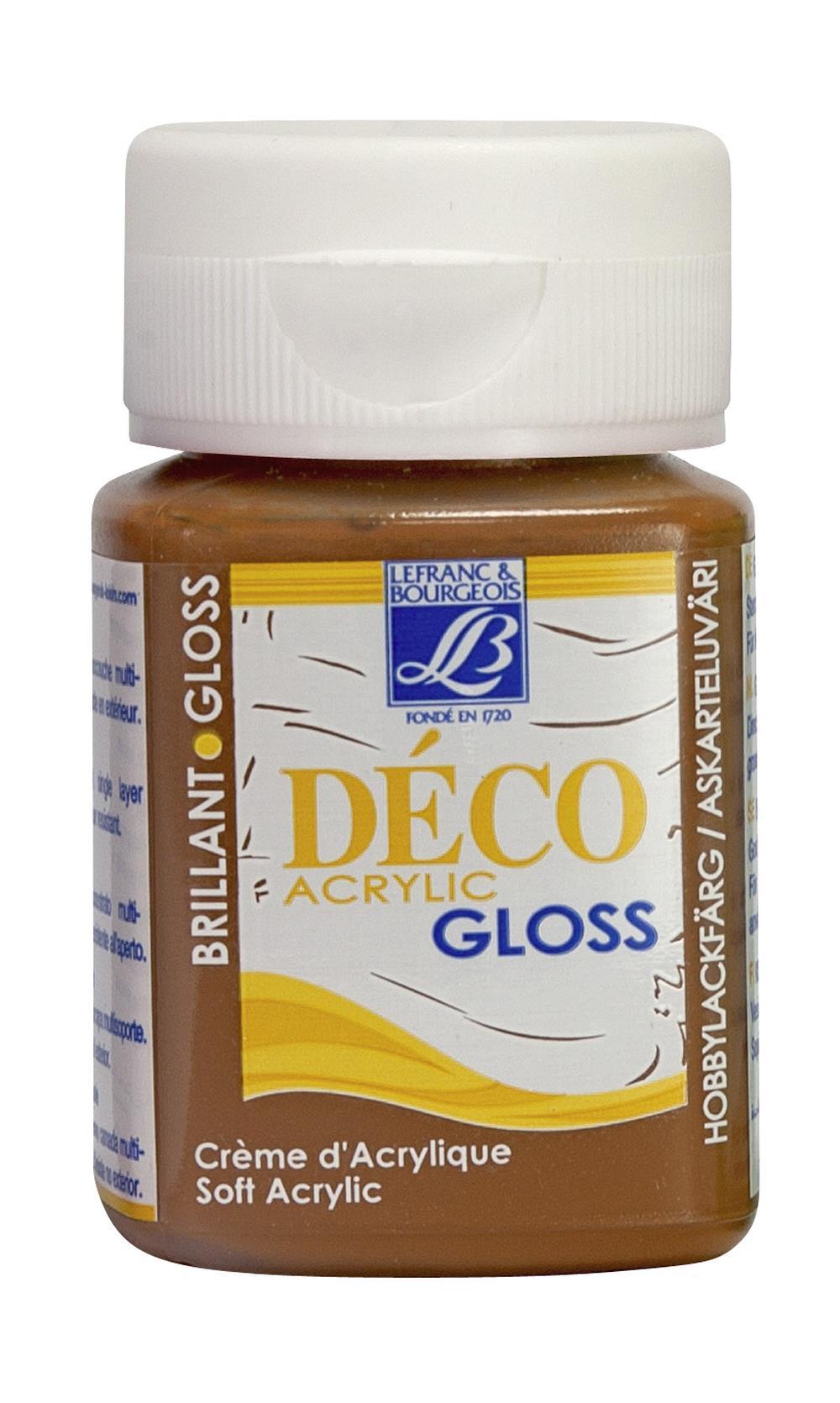 Hobbyfärg L&B Deco Gloss Akryl 50ml  Warm green 490 (4F) utgått