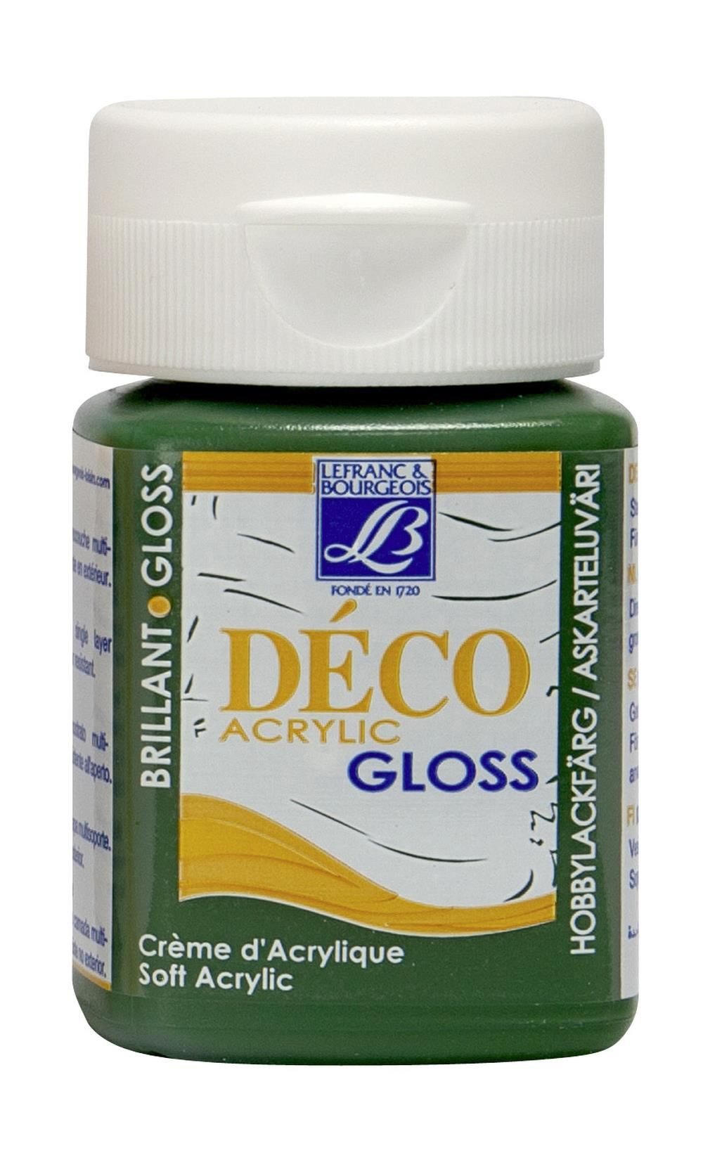 Hobbyfärg L&B Deco Gloss Akryl 50ml  Forest green 492 (4F) Utgår
