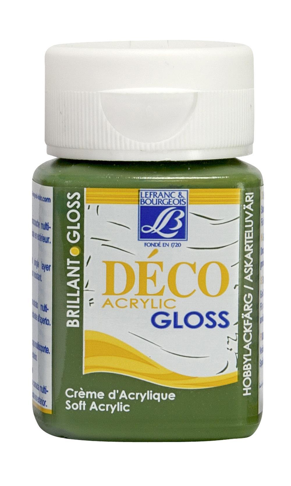 Hobbyfärg L&B Deco Gloss Akryl 50ml  Olive green 541 (4F) Utgår