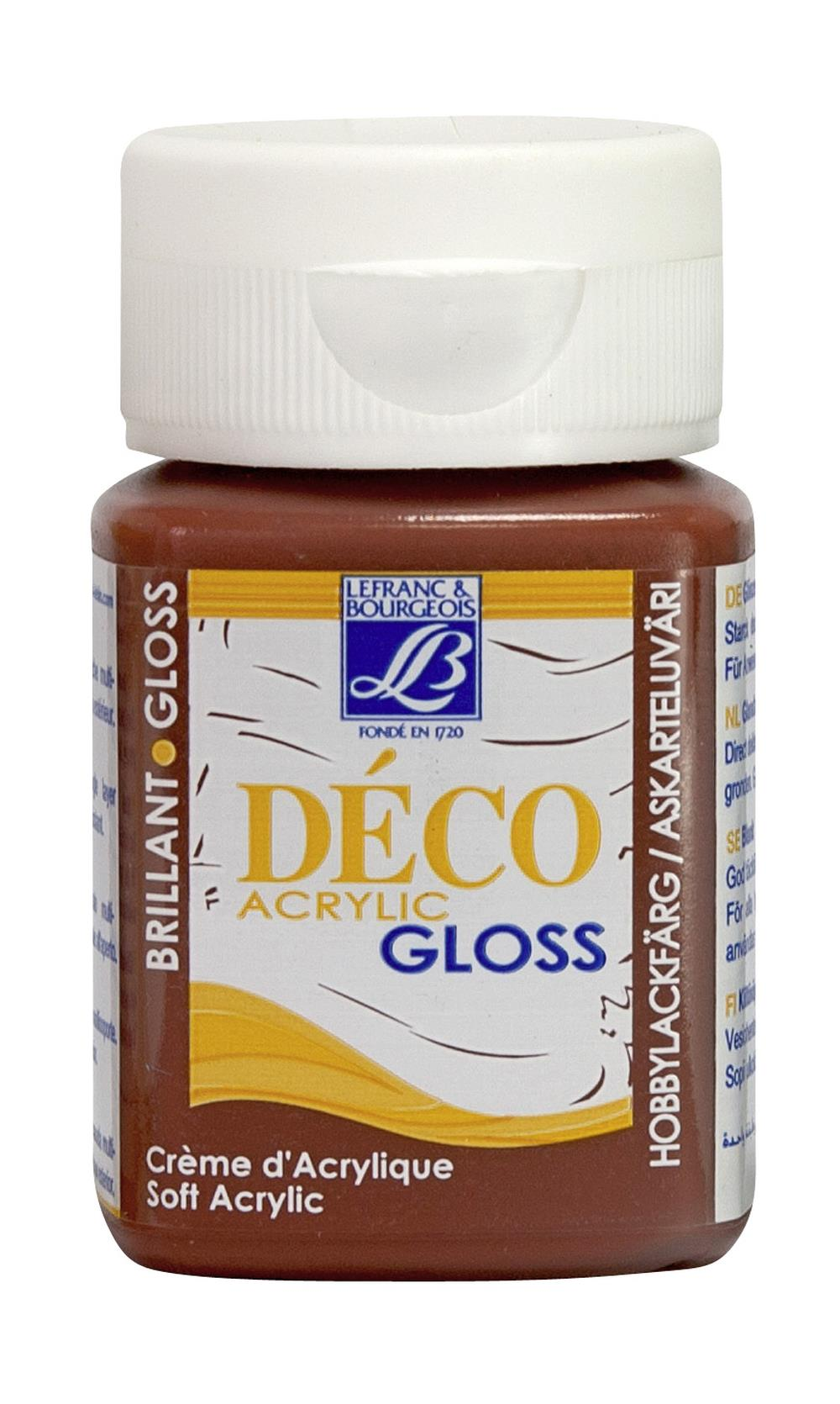 Hobbyfärg L&B Deco Gloss Akryl 50ml  Mahogany 487 (4F) Utgår