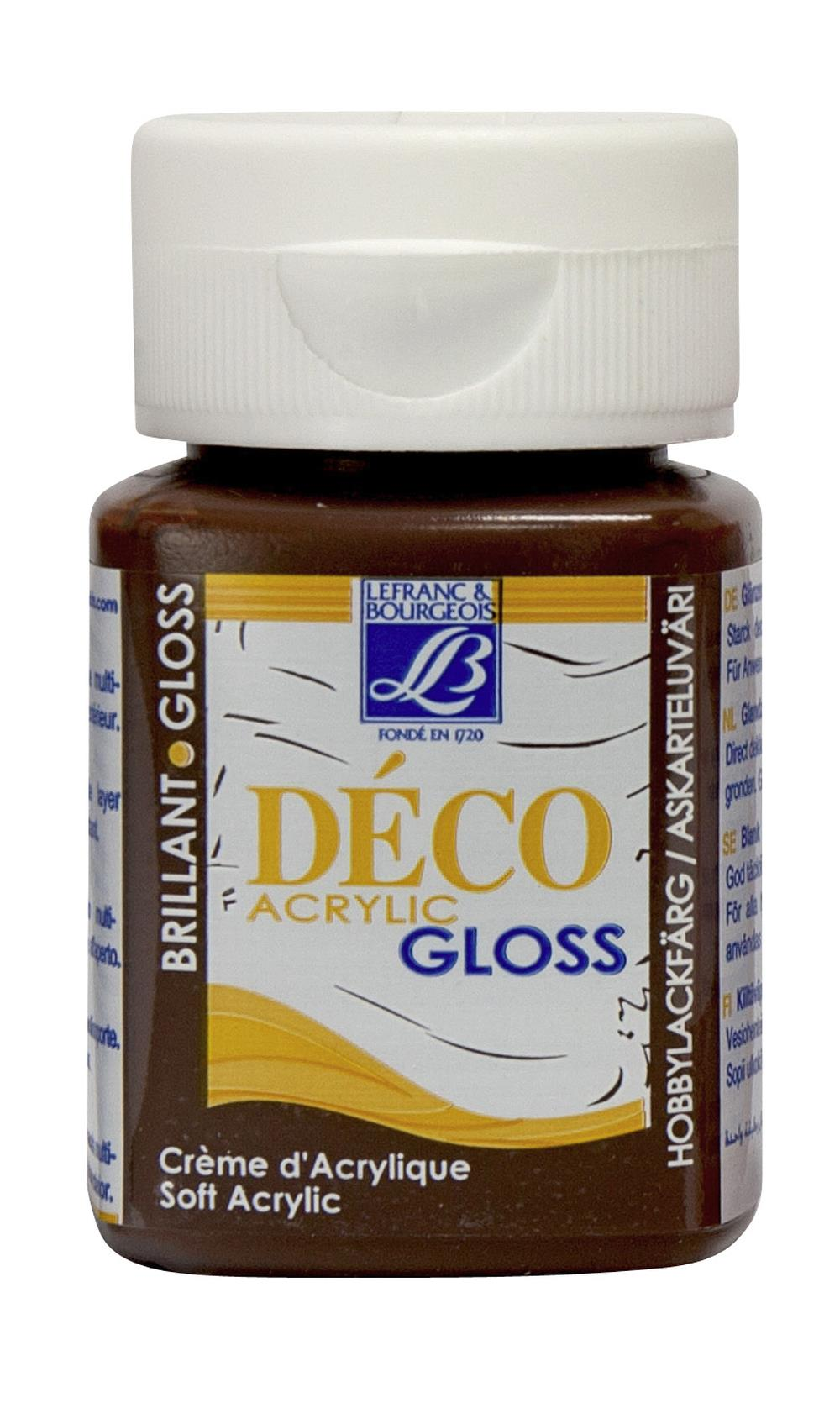 Hobbyfärg L&B Deco Gloss Akryl 50ml  Brown 488 (4F) Utgår