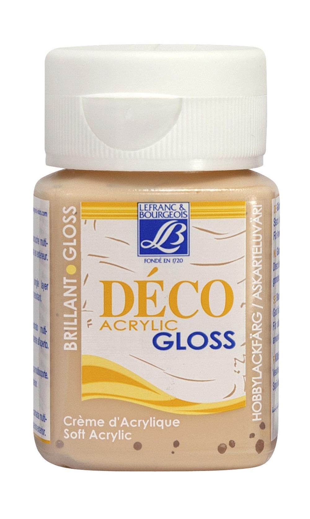 Hobbyfärg L&B Deco Gloss Akryl 50ml  Light peach 454 (4F) Utgår