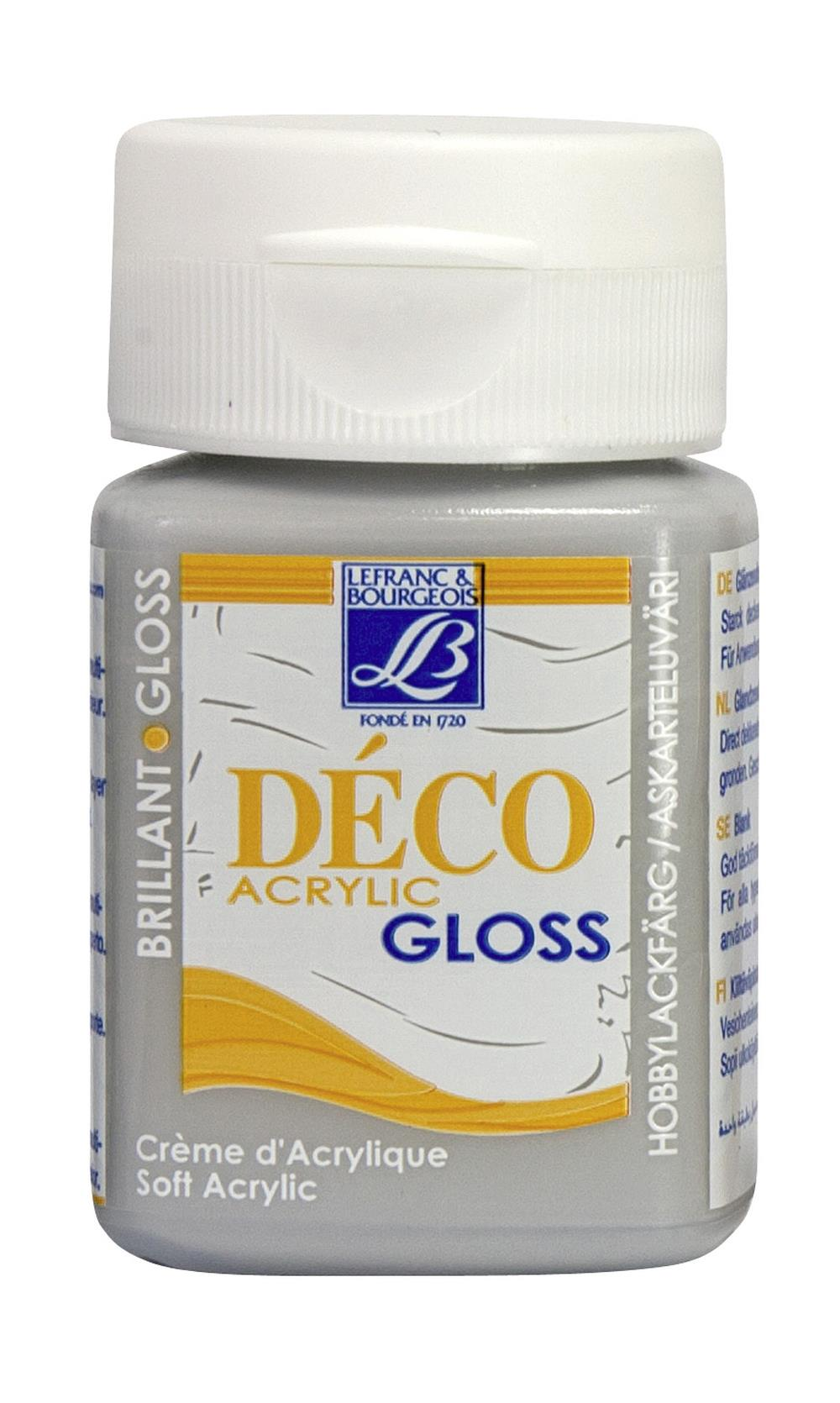 Hobbyfärg L&B Deco Gloss Akryl 50ml  Light Grey 253 (4F) Utgår