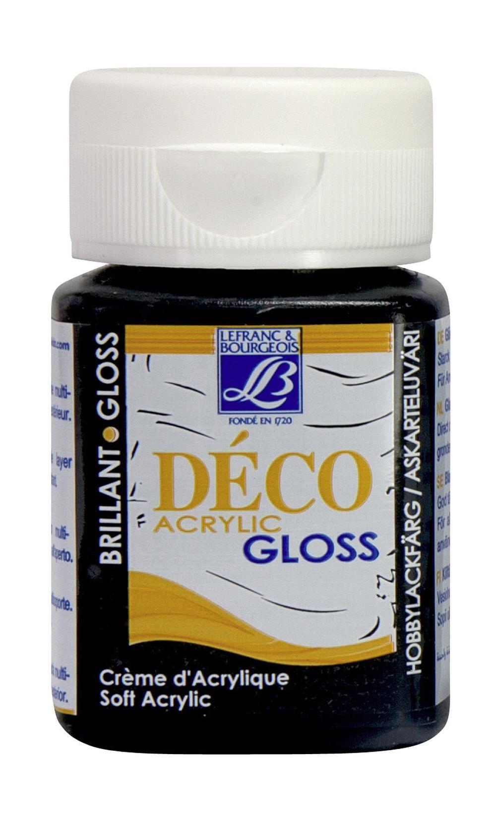 Hobbyfärg L&B Deco Gloss Akryl 50ml  Black 265 (4F) Utgår