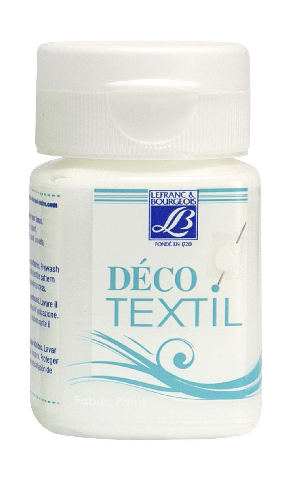 Tygfärg L&B Deco Textil 50ml  Snow white -  soft 877 (4F) Utgår