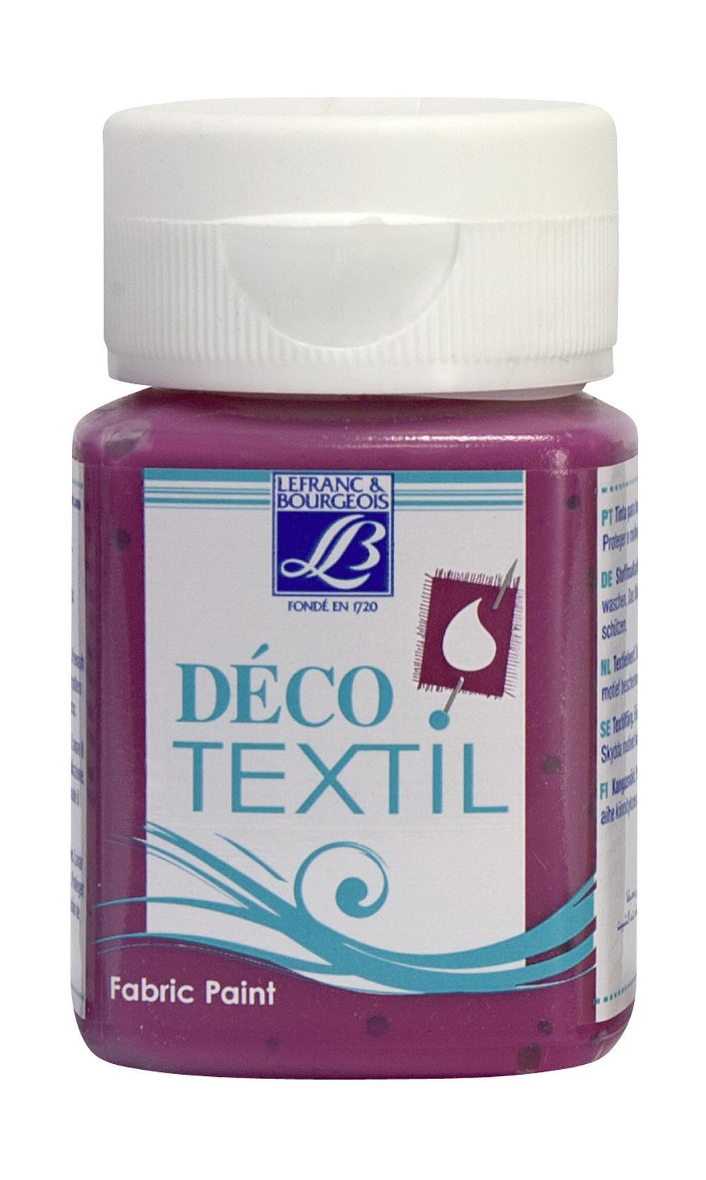 Tygfärg L&B Deco Textil 50ml  Intense raspberry - warm 315 (4F) Utgår