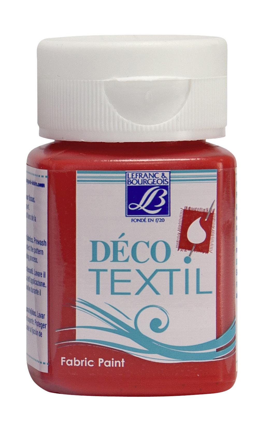 Tygfärg L&B Deco Textil 50ml  Intense red - intensive 318 (4F) Utgår