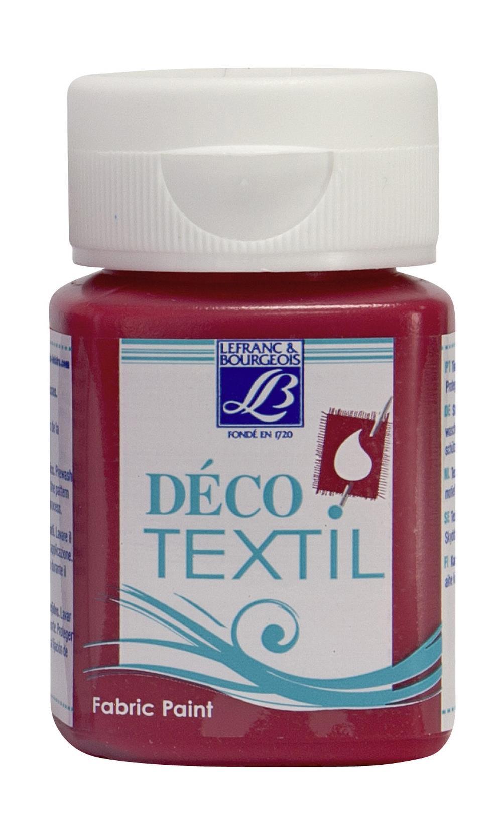 Tygfärg L&B Deco Textil 50ml  Passion red - warm 323 (4F) Utgår