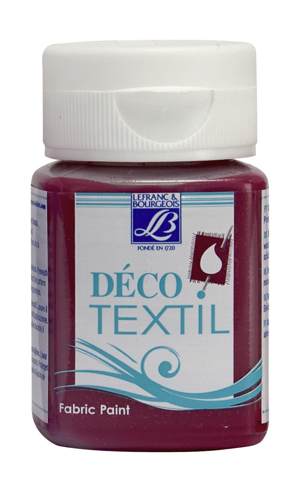 Tygfärg L&B Deco Textil 50ml  Bordeaux 367 (4F) Utgår
