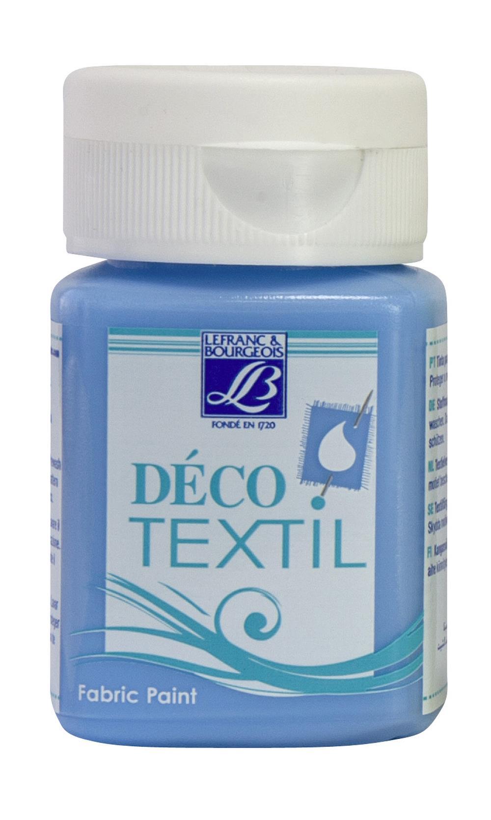 Tygfärg L&B Deco Textil 50ml  Aegean sea - intensive 736 (4F) Utgår
