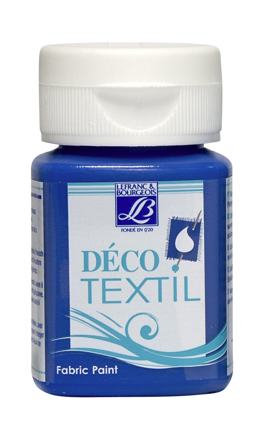Tygfärg L&B Deco Textil 50ml  Electric blue - warm 032 (4F) Utgår