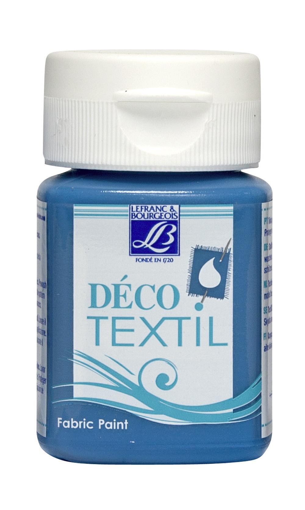 Tygfärg L&B Deco Textil 50ml  Turquoise - warm 058 (4F) Utgår