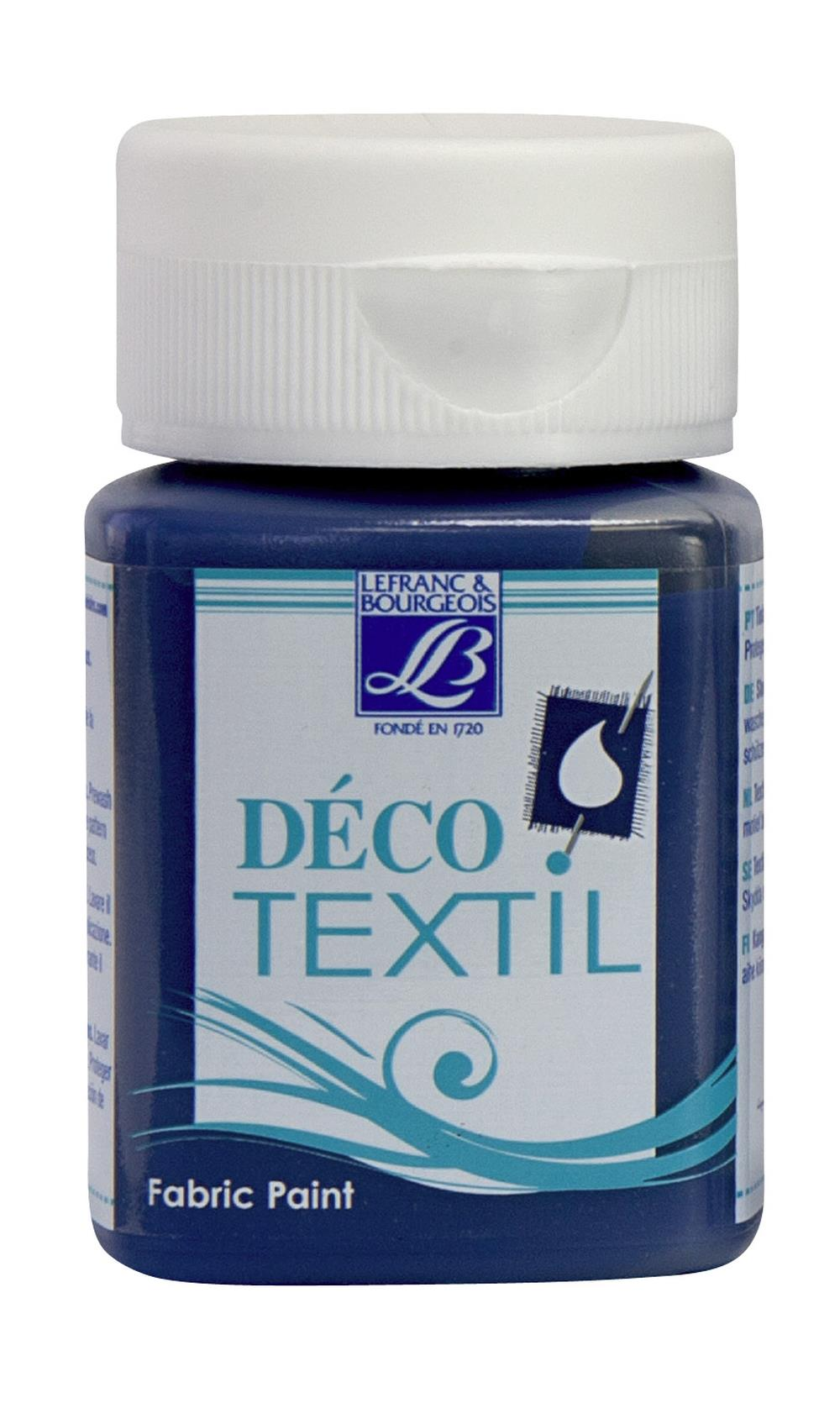 Tygfärg L&B Deco Textil 50ml  Slate Blue - warm 093 (4F) Utgår