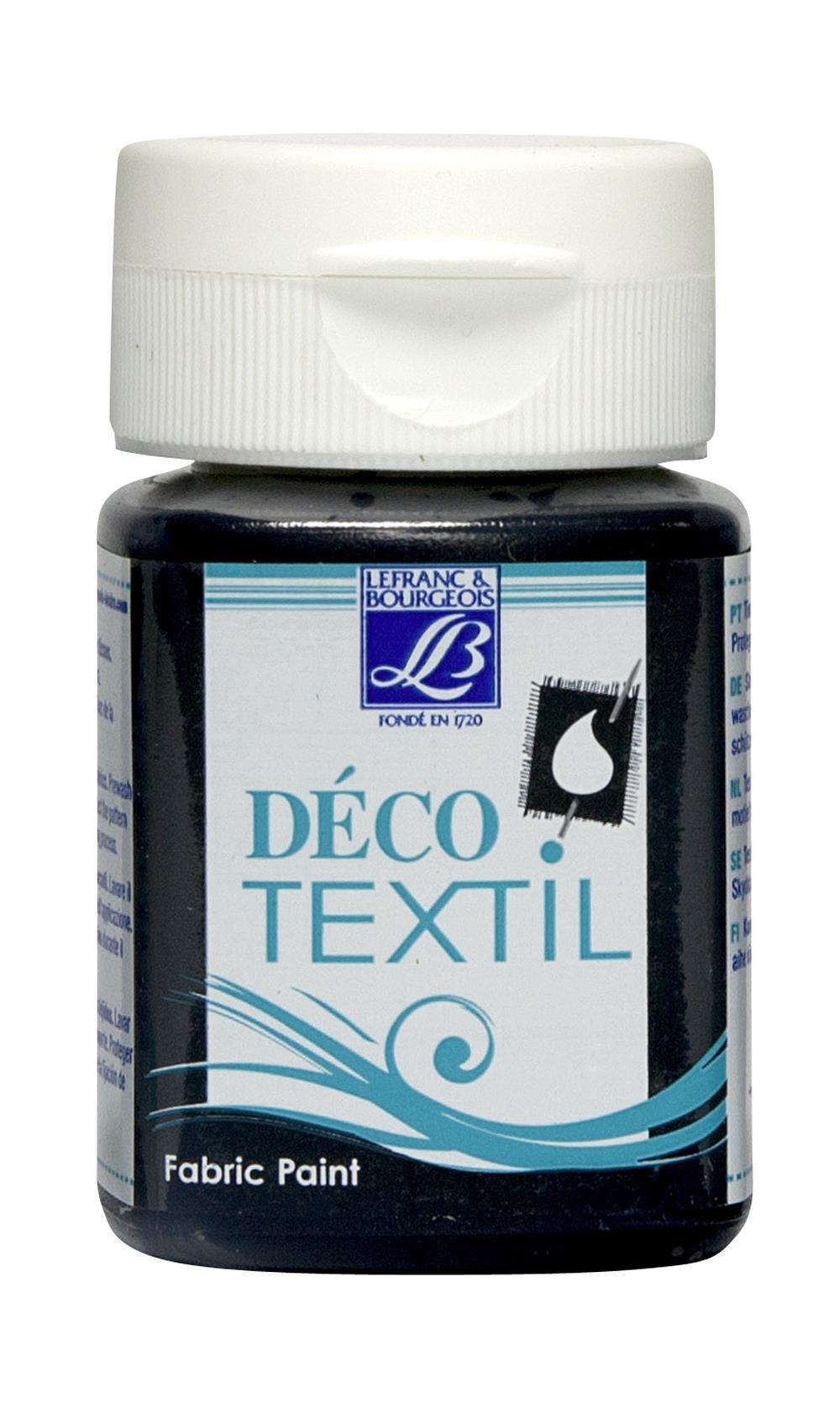 Tygfärg L&B Deco Textil 50ml  Night black - warm 270 (4F) Utgår