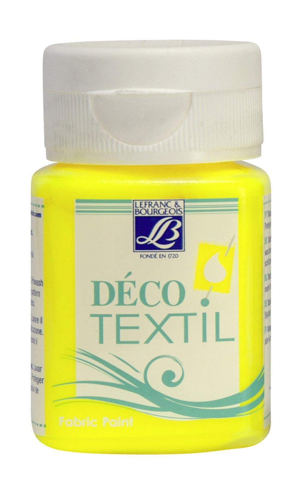 Tygfärg L&B Deco Textil 50ml  Neon yellow - effekt 163 (4F) Utgår
