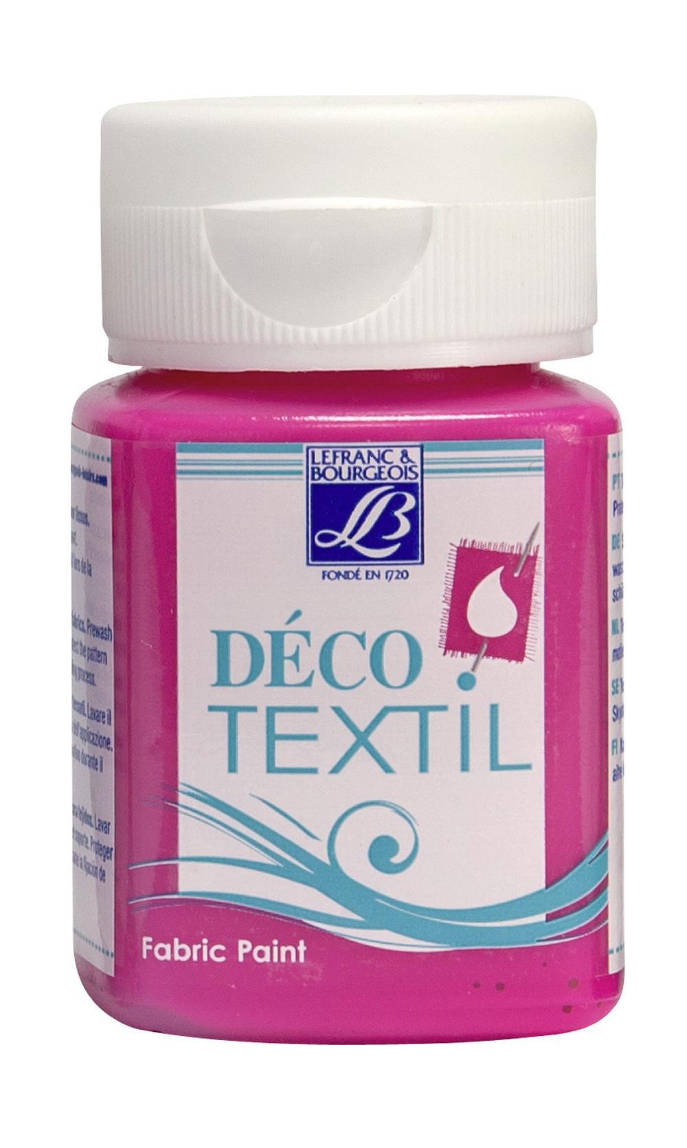 Tygfärg L&B Deco Textil 50ml  Neon Pink - effekt 408 (4F) Utgår