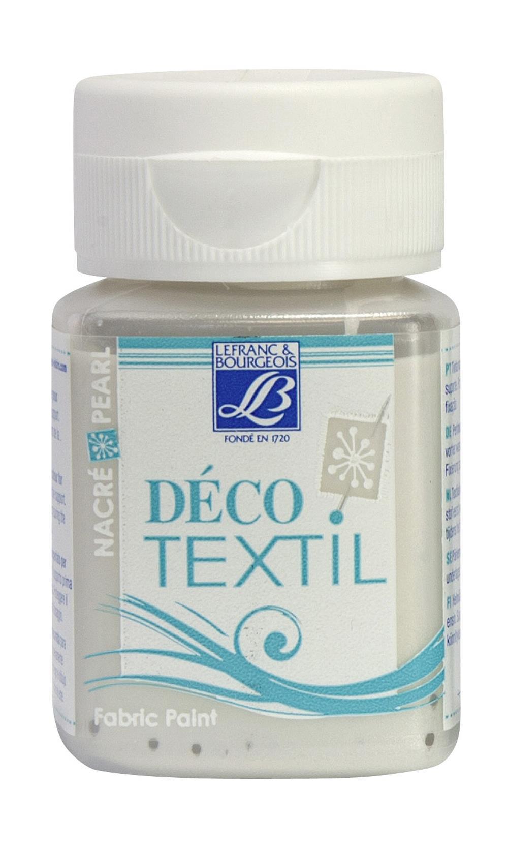 Tygfärg L&B Deco Textil 50ml  Pearl white sand - effekt 738 (4F) Utgår