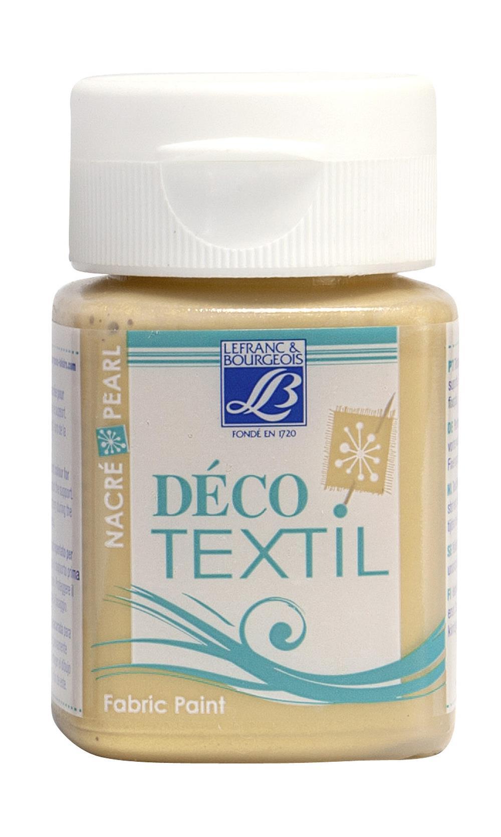 Tygfärg L&B Deco Textil 50ml  Pearl gold - effekt 739 (4F) utgår