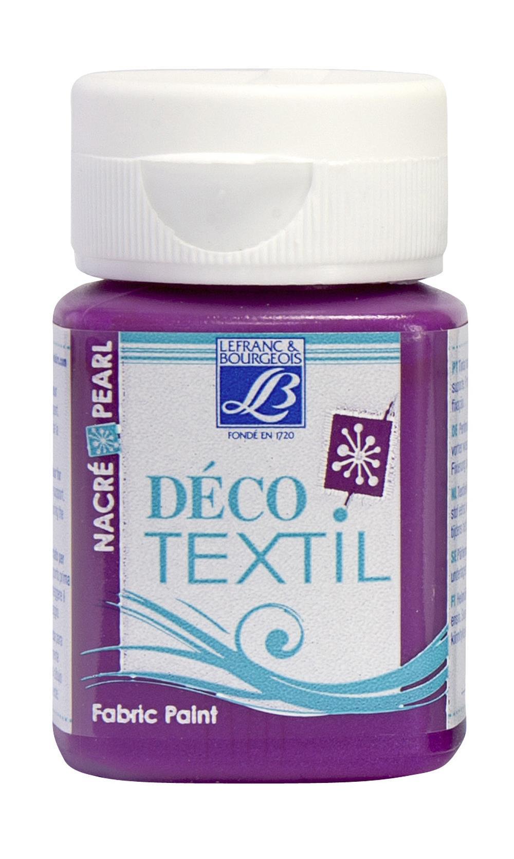 Tygfärg L&B Deco Textil 50ml  Pearl Indian pink - effekt  743 (4F) Utgår
