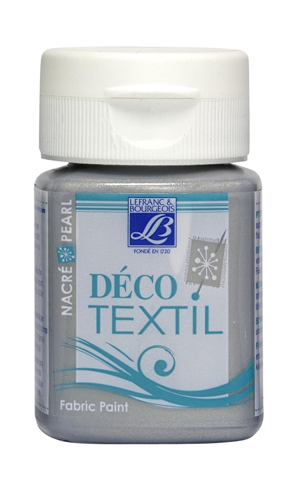 Tygfärg L&B Deco Textil 50ml  Pearl silver - effekt 747 (4F) Utgår