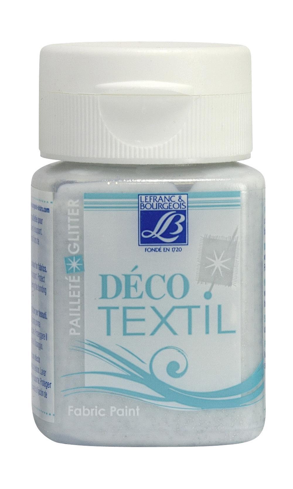 Tygfärg L&B Deco Textil 50ml  Glitter silver  - effekt 4003 (4F) Utgått