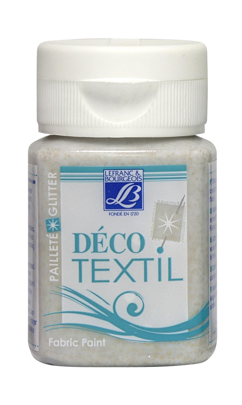 Tygfärg L&B Deco Textil 50ml  Glitter gold - effekt  4004 (4F)