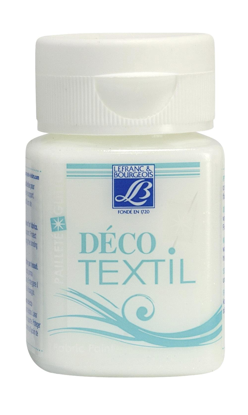Tygfärg L&B Deco Textil 50ml  Glitter crystal  - effekt 4005 (4F) Utgår