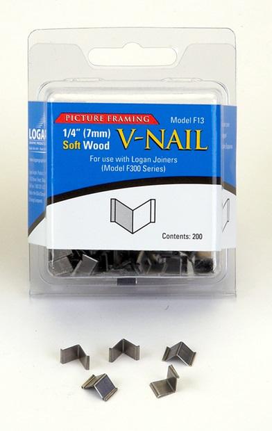 Inramning Logan 7 mm V-nail for soft wood F13 200-p