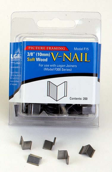 Inramning Logan 10 mm V-nail for soft wood F15 200-p
